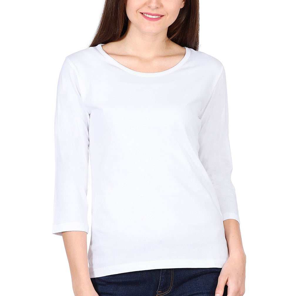Plain White Full Sleeves T-Shirt for Women