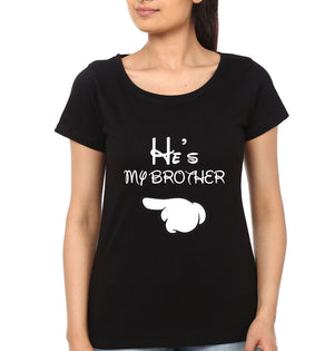 My Sister Brother Half Sleeves T-Shirt for Women