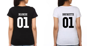 ektarfa.com BFF T-Shirts Brunette and Blonde
