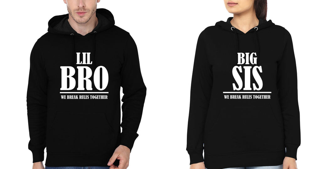 ektarfa.com Brother Sister T-Shirts Big Sis & Lil Bro We Break The Rules Together Brother Sister Hoodie