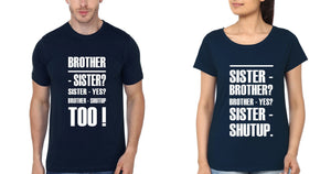 ektarfa.com Brother Sister T-Shirts Shut Up