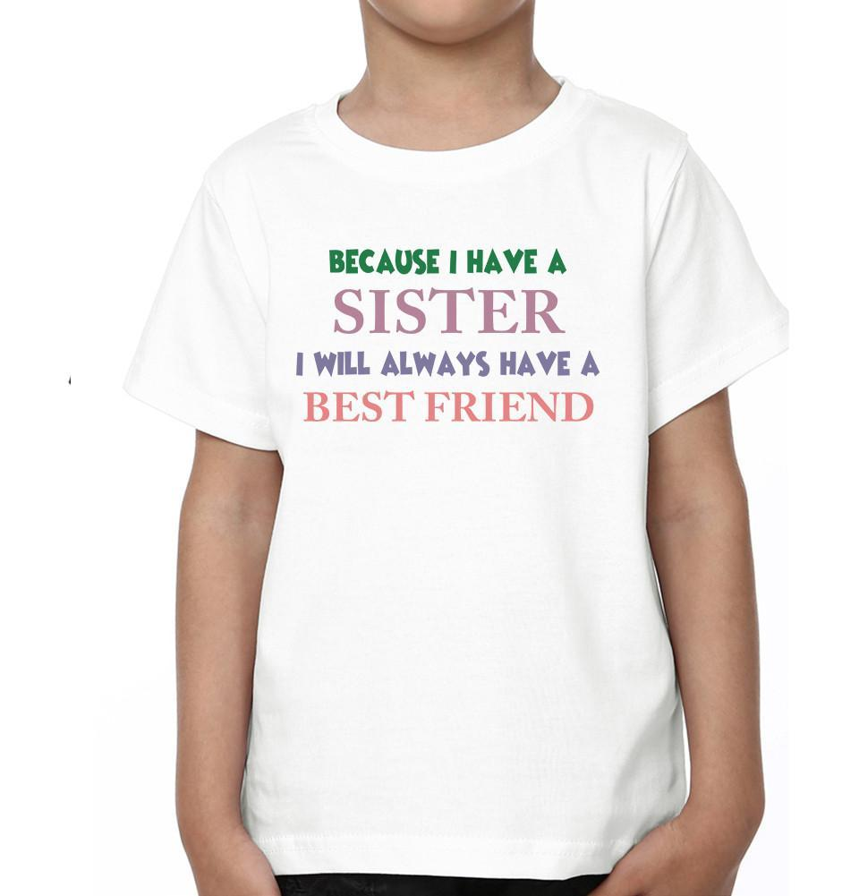 ektarfa.com @ Buy Best T-shirts Online in India Brother Sister T-Shirts Because I Have Brother Sister