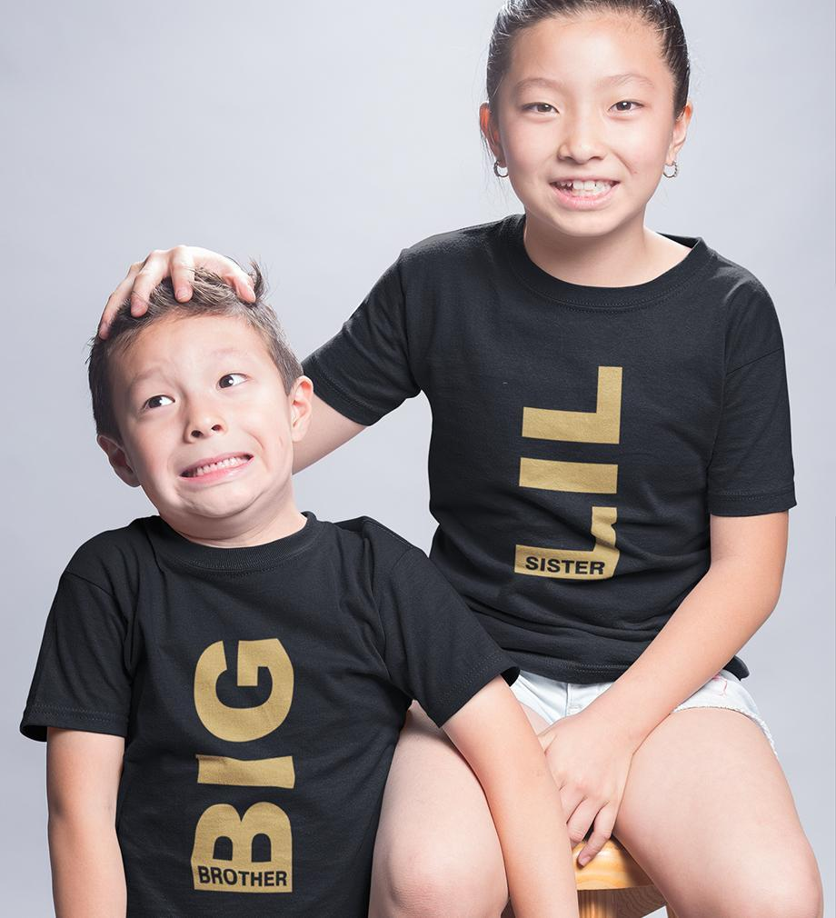ektarfa.com @ Buy Best T-shirts Online in India Brother Sister T-Shirts Big Brother Lil sister kid Brother Sister T Shirts