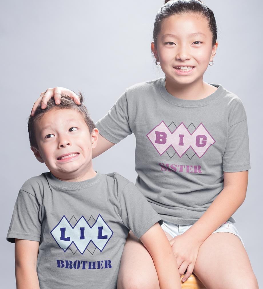 ektarfa.com @ Buy Best T-shirts Online in India Brother Sister T-Shirts Big Sister Lil Brother