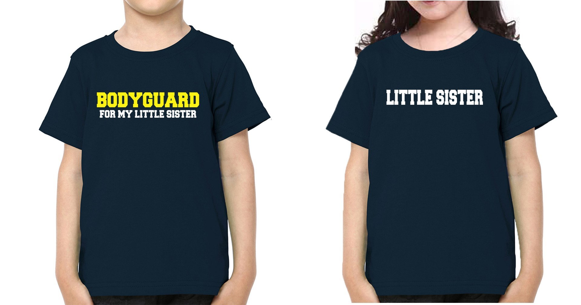 ektarfa.com @ Buy Best T-shirts Online in India Brother Sister T-Shirts Bodyguard For My Lil Sis kid Brother Sister T Shirts