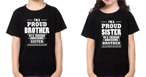 ektarfa.com @ Buy Best T-shirts Online in India Brother Sister T-Shirts I'M Proud Brother Sister kid Brother Sister T Shirts