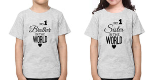 ektarfa.com @ Buy Best T-shirts Online in India Brother Sister T-Shirts No1 Sister No1 Brother
