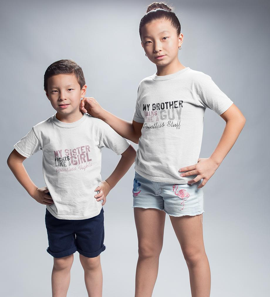 ektarfa.com @ Buy Best T-shirts Online in India Brother Sister T-Shirts Pointless Stuff, Hights
