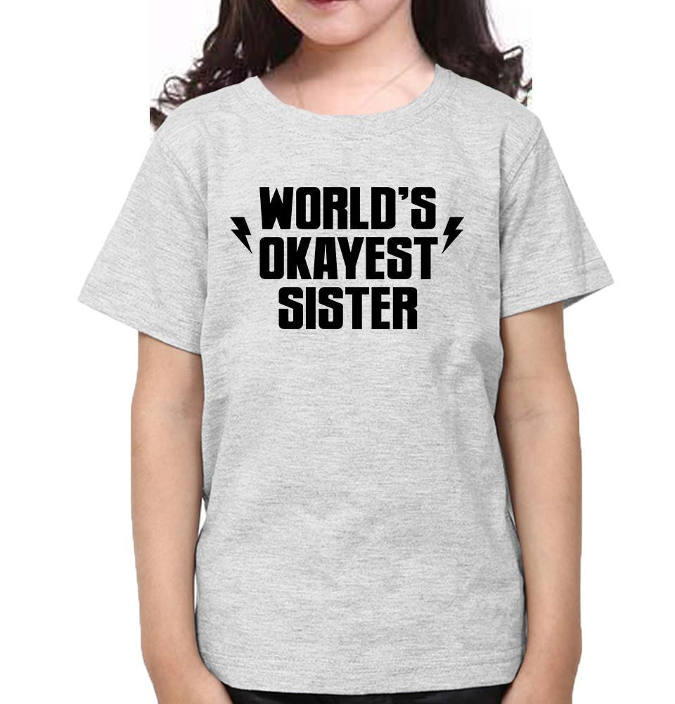 ektarfa.com @ Buy Best T-shirts Online in India Brother Sister T-Shirts World's Okayest Brother Sister