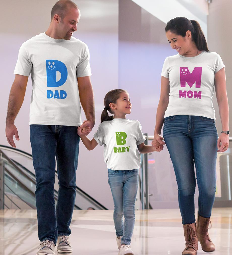 ektarfa.com @ Buy Best T-shirts Online in India Family T-Shirts Dad Baby Mom Family T-Shirts