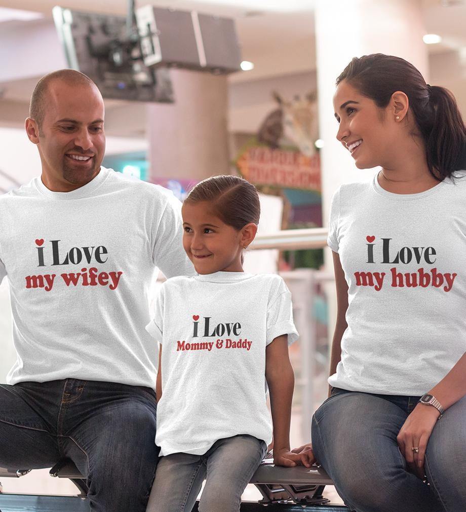 ektarfa.com @ Buy Best T-shirts Online in India Family T-Shirts I Love Family T-Shirts