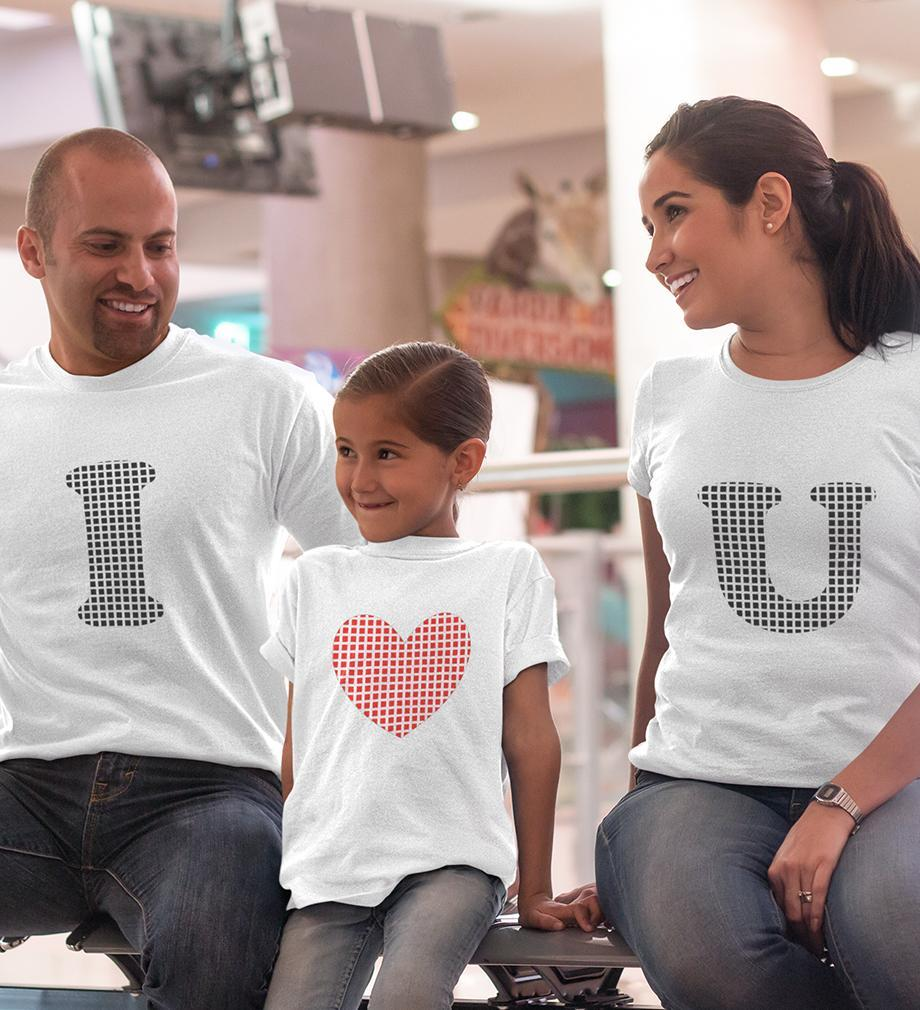 ektarfa.com @ Buy Best T-shirts Online in India Family T-Shirts I Love U Family T-Shirts