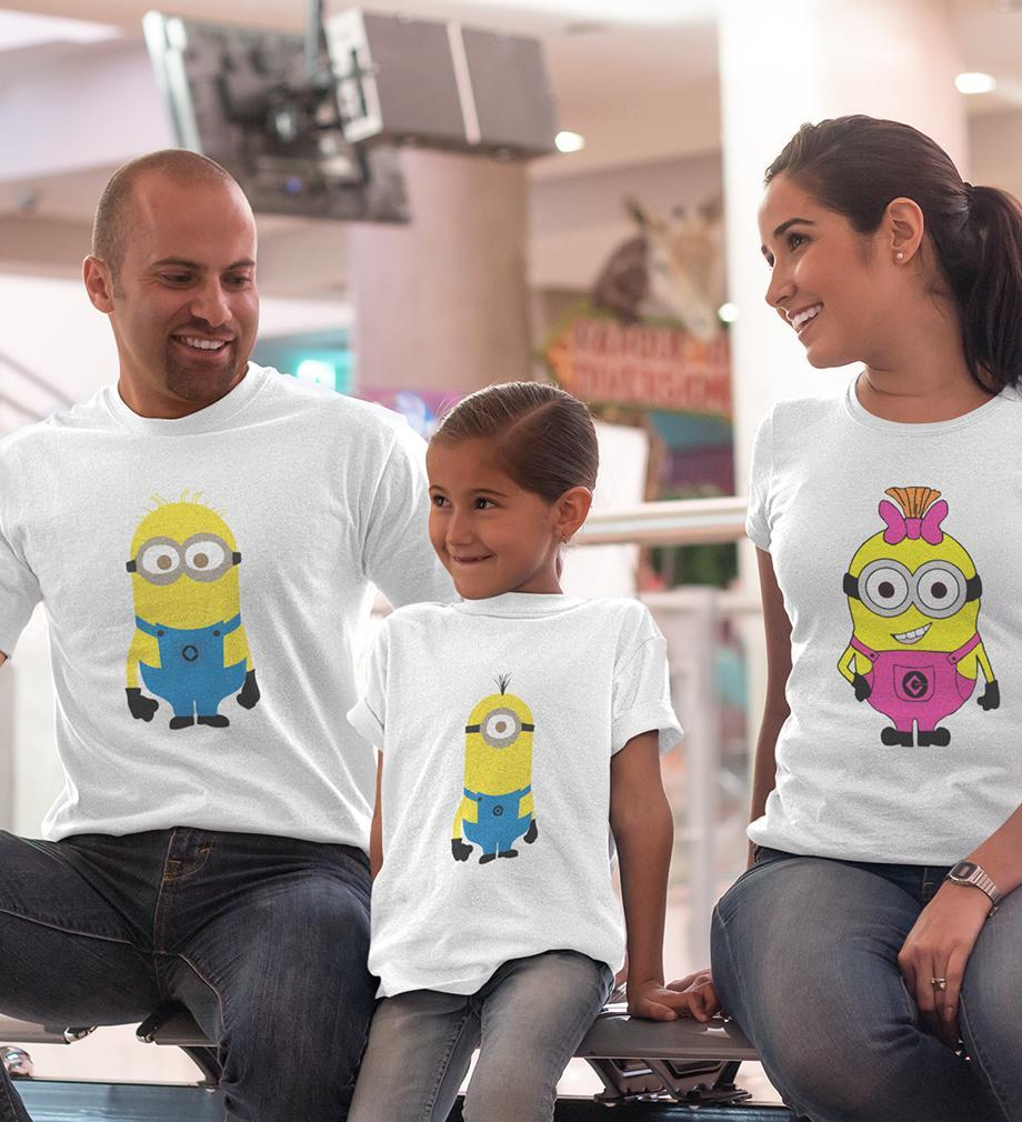 ektarfa.com @ Buy Best T-shirts Online in India Family T-Shirts Minion Family T-Shirts