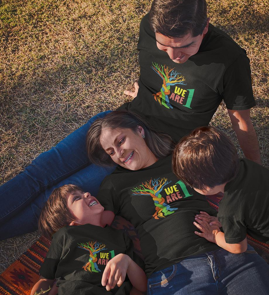 ektarfa.com @ Buy Best T-shirts Online in India Family T-Shirts We Are 1 Family T-Shirts