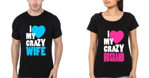 ektarfa.com Couple T-Shirts Crazy Wife Husband Couple T Shirts - Set of 2 Pcs.