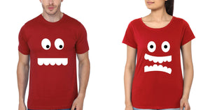 ektarfa.com Couple T-Shirts Eyes & Teeth Couple Couple T Shirts - Set of 2 Pcs.