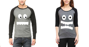 ektarfa.com Couple T-Shirts Eyes & Teeth Couple - Set of 2 Pcs.
