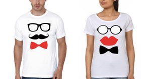 ektarfa.com Couple T-Shirts Happy Hours Mr&Mrs Couple T-Shirt - Set of 2 Pcs.