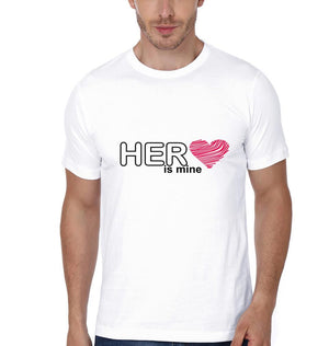 ektarfa.com Couple T-Shirts His Mine Her Mine - Set of 2 Pcs.