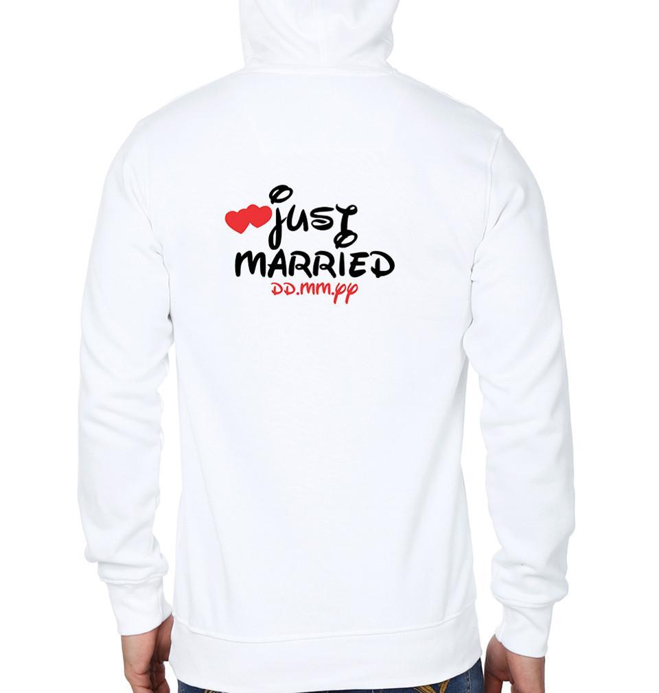 ektarfa.com Couple T-Shirts Just Married Couple Hoodie - Set of 2 Pcs.