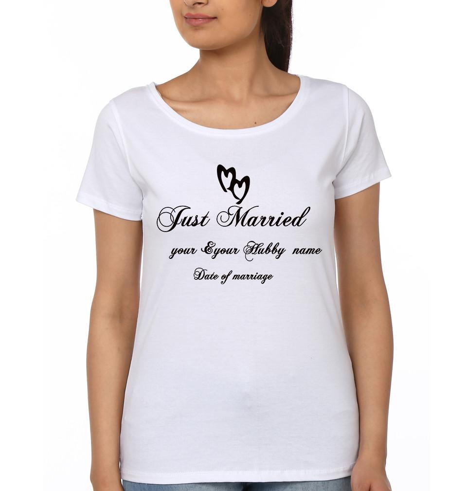ektarfa.com Couple T-Shirts Just Married Couple T-Shirt - Set of 2 Pcs.
