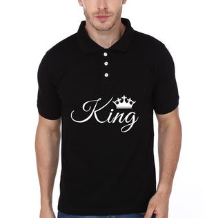 ektarfa.com Couple T-Shirts King Queen Couple Polo T-Shirts - Set of 2 Pcs.