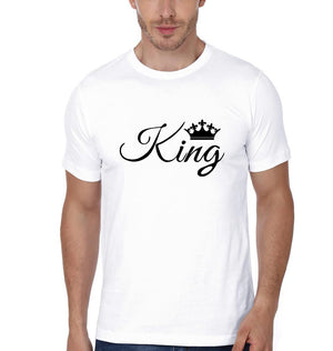 ektarfa.com Couple T-Shirts King Queen Couple T-Shirt - Set of 2 Pcs.