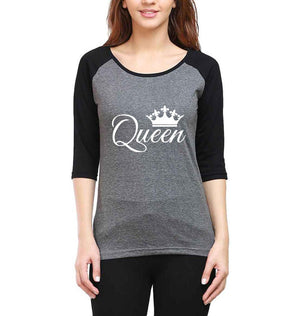 ektarfa.com Couple T-Shirts King Queen Raglan Couple T Shirts - Set of 2 Pcs.