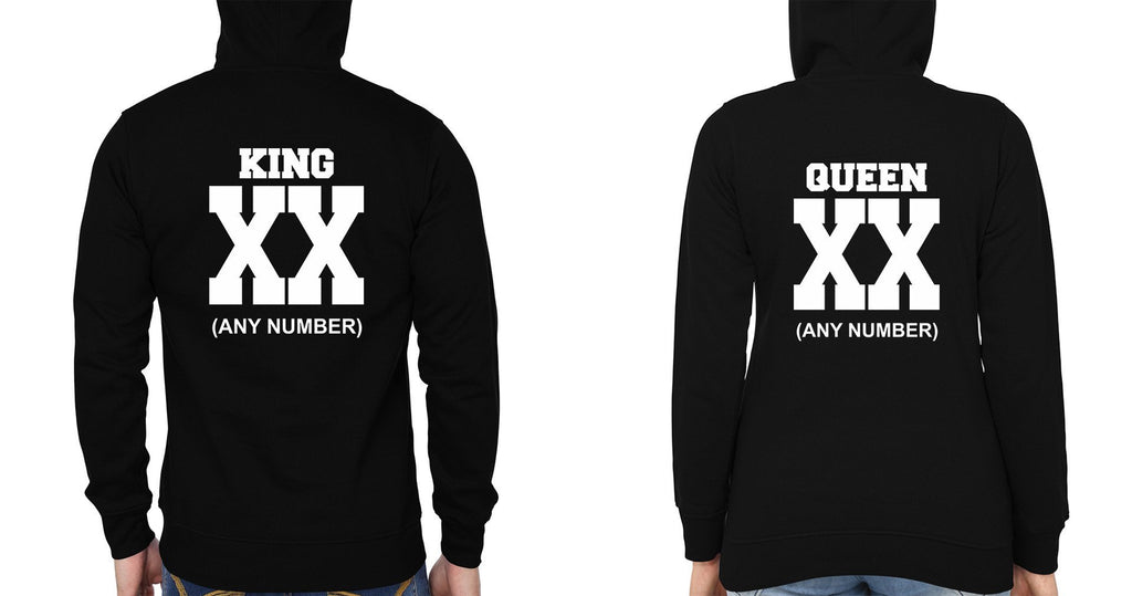 ektarfa.com Couple T-Shirts King Queen XX Couple Hoodie - Set of 2 Pcs.