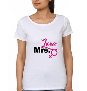 ektarfa.com Couple T-Shirts Mr. Love Mrs. Love - Set of 2 Pcs.