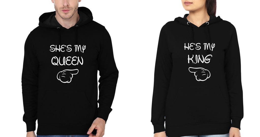 ektarfa.com Couple T-Shirts My Queen Couple Hoodie - Set of 2 Pcs.