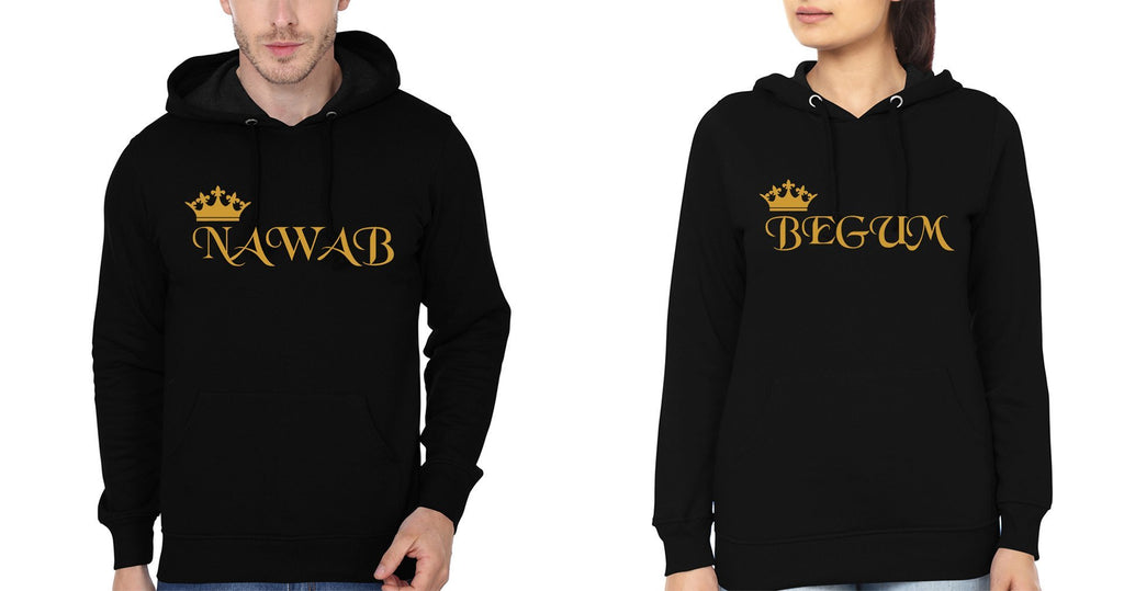 ektarfa.com Couple T-Shirts Nawab Begum Couple Hoodie - Set of 2 Pcs.
