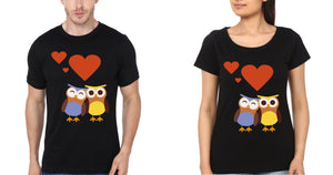ektarfa.com Couple T-Shirts Owl Couple T-Shirt - Set of 2 Pcs.
