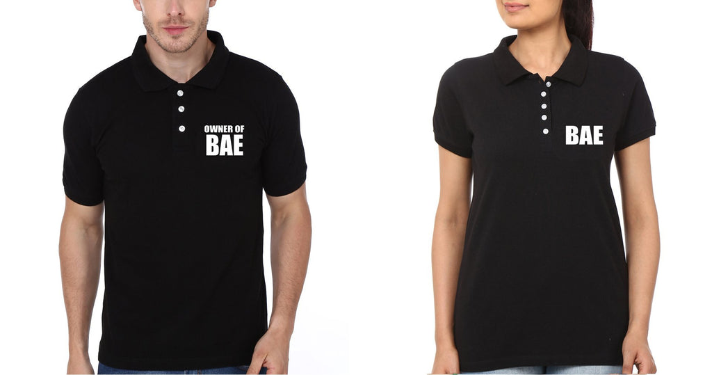 ektarfa.com Couple T-Shirts Pocket BAE&Owner of BAE Couple Polo T-Shirts - Set of 2 Pcs.