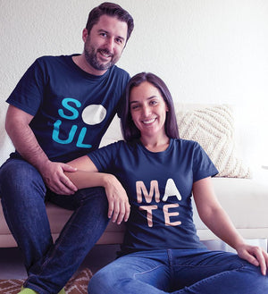 ektarfa.com Couple T-Shirts Soul Mate Couple T-Shirt - Set of 2 Pcs.