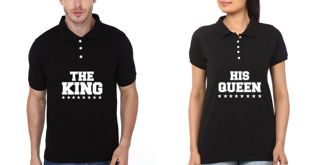 ektarfa.com Couple T-Shirts The King His Queen Couple Polo T-Shirts - Set of 2 Pcs.