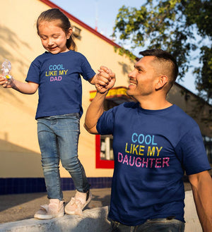 ektarfa.com Father Daughter T-Shirts Cool Like My Dad Cool Like My Daughter Father Daughter T-Shirts
