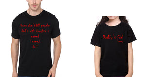ektarfa.com Father Daughter T-Shirts Gun Don't Kill People Father Daughter T-Shirts