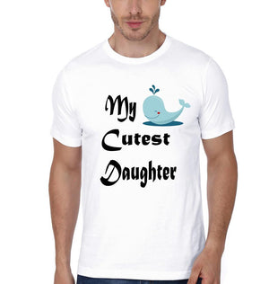 ektarfa.com Father Daughter T-Shirts My Cutest Daughter My Strongest Dad Father Daughter T-Shirts