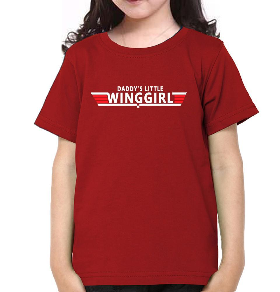 ektarfa.com Father Daughter T-Shirts Top Dad Daddy's Little Winggirl Father Daughter T-Shirts
