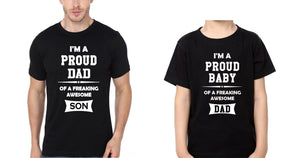 ektarfa.com Father Son T-Shirts I Am Proud Dad I Am Proud Baby Father Son T-Shirts