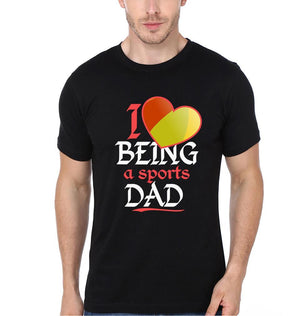 ektarfa.com Father Son T-Shirts I Love Being A Sports Dad I Love Being A Sports Kid Father Son T-Shirts