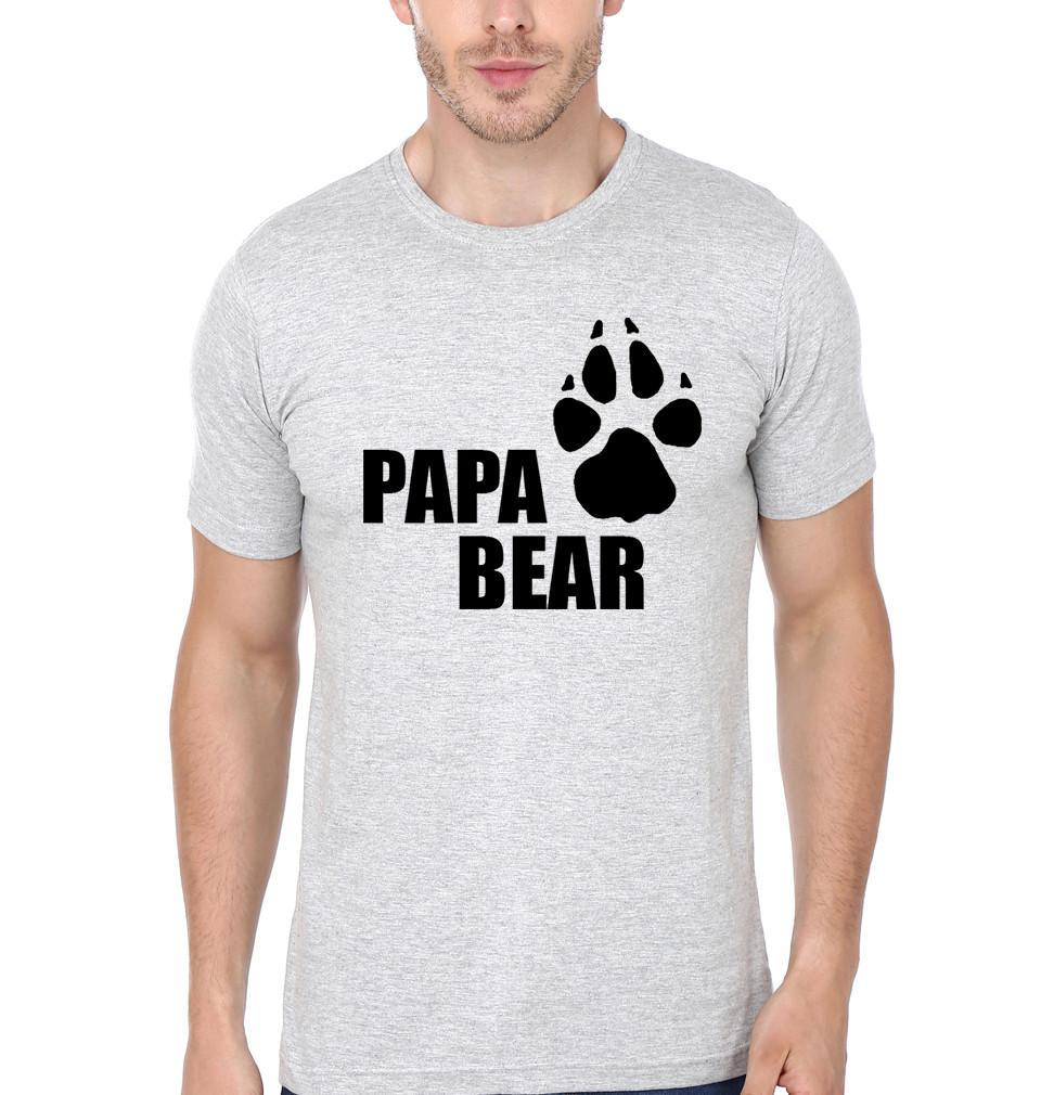 ektarfa.com Father Son T-Shirts Papa Bear Kid Bear