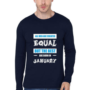 ektarfa.com Men Designs All Men Equal_January birthday Men t-shirts and hoodies