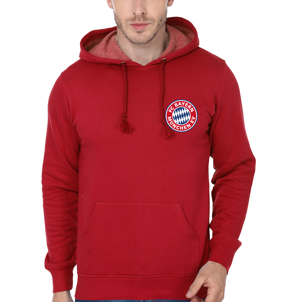 ektarfa.com Men Designs Bayern Munich Logo Men Red T Shirt &Hoodie