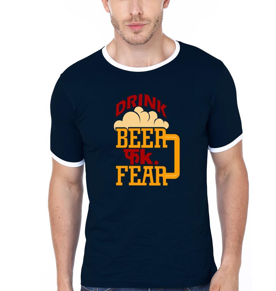 ektarfa.com Men Designs Drink Beer Fuck Fear Men T-Shirts & Hoodies