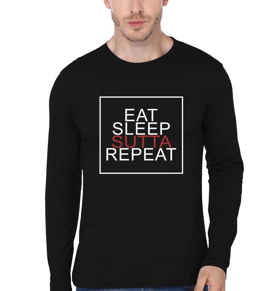 ektarfa.com Men Designs Eat Sleep Sutta Repeat men T-Shirts & Hoodie