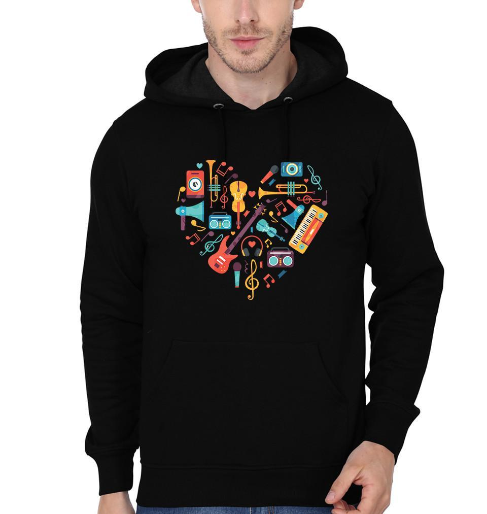 ektarfa.com Men Designs Heart of Music Instruments Men T shirts & Hoodie