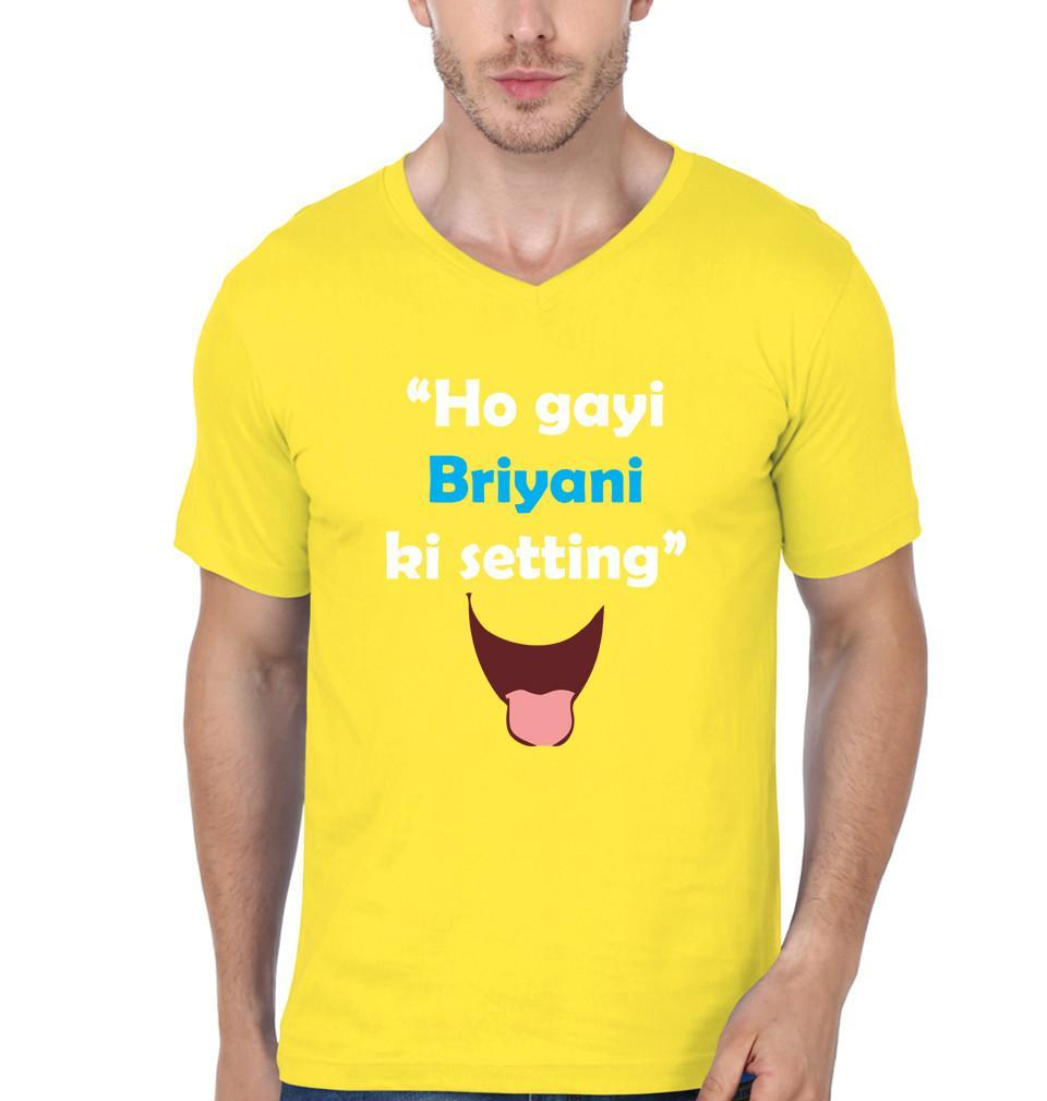 ektarfa.com Men Designs Ho Gayi Biryani Ki Setting Funny men T-Shirts & Hoodie