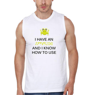 ektarfa.com Men Designs I HAVE AN ATTITUDE AND I KNOW HOW TO USE men T-Shirts & Hoodie